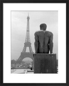 Male Nude Statue with Eiffel Tower, 1963 by Alan Scales