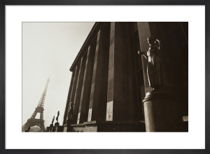 Sepia Eiffel Tower by Carl Lyttle