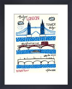 Bridges of London - Downriver by Julia Gash