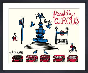 A Snapshot of Piccadilly Circus by Julia Gash