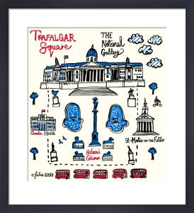 London - Trafalgar Square by Julia Gash