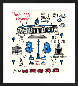 London - Trafalgar Square by Julia Gash