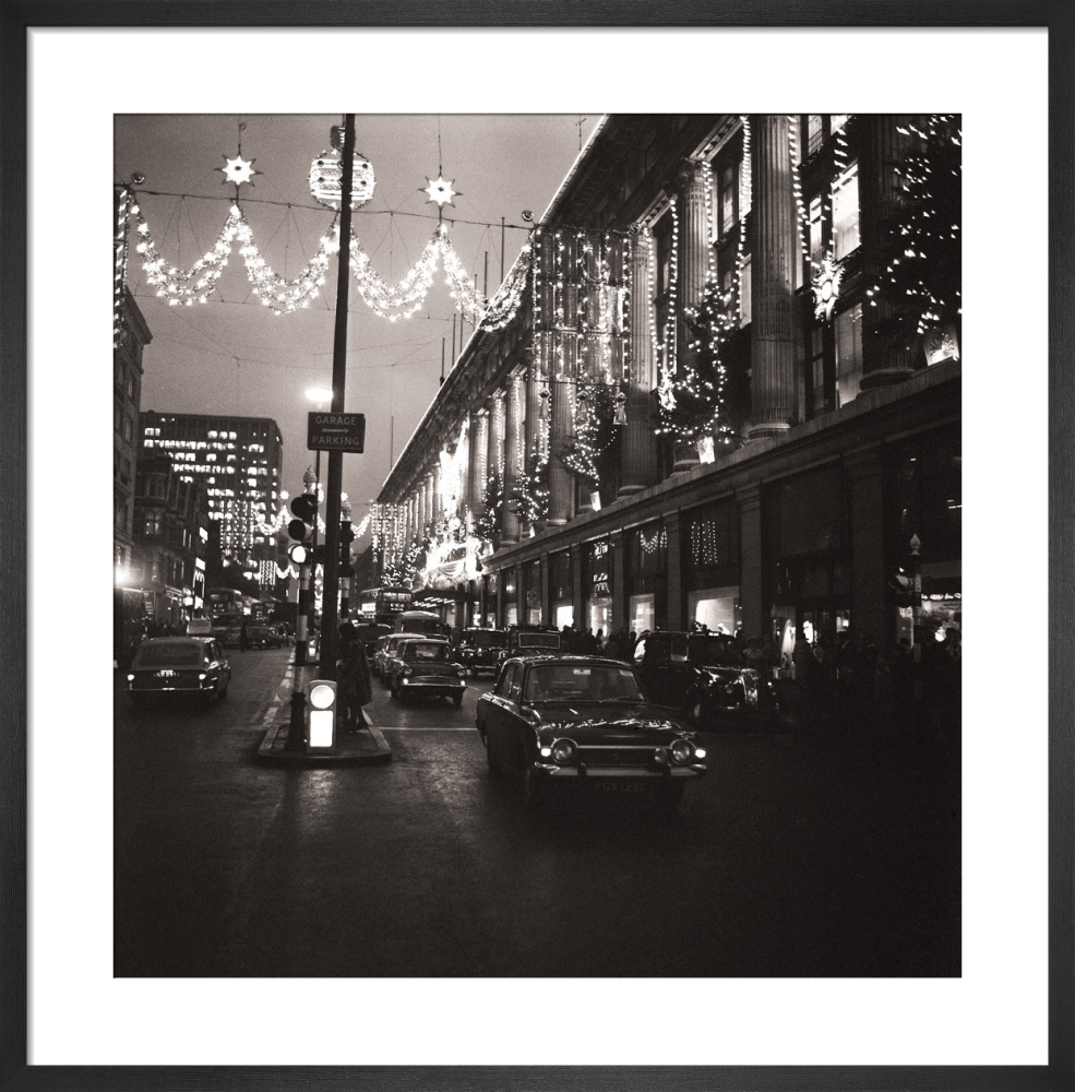 def9a71e4156 Selfridges at Christmas by night (1) Art Print by Anonymous