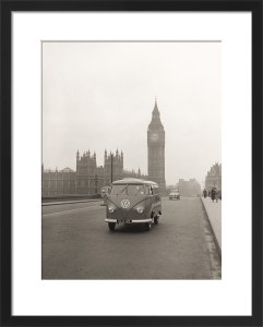 VW camper with Big Ben by Anonymous