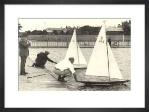 Model boat sailing by Anonymous
