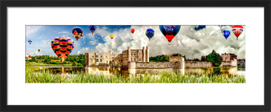 Leeds Castle and Balloons by Henry Reichhold
