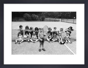 Kindergarten Tennis 1973 by Mirrorpix