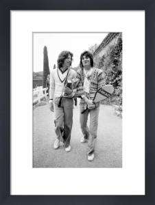 Mick Jagger and Ronnie Wood 1976 by Anonymous