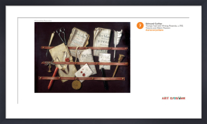 Trompe l'oeil with Writing Materials by Edward Collier