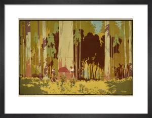 Empire Marketing Board - Felling a Karri Tree, Western Australia by A B Webb