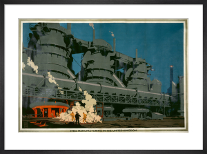 Empire Marketing Board - Steel Manufacturing in the UK by Frank Newbould