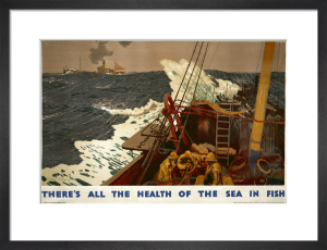 Empire Marketing Board - There's All The Health of the Sea in Fish by Charles Pears