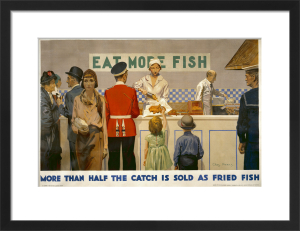 Empire Marketing Board - More Than Half the Catch is Sold as Fried Fish by Charles Pears