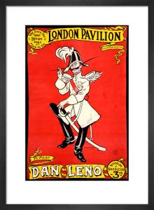 Dan Leno, London Pavilion 1900 by A P F Ritchie