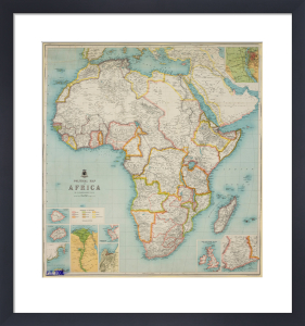 Political Map of Africa, 1904 by J G Bartholomew
