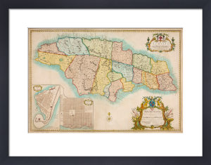 Map of Jamaica, 1753 by Archibald Bontein
