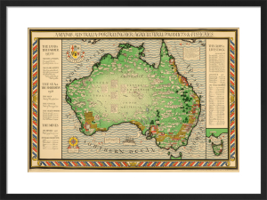 Empire Marketing Board, Map of Australia by Macdonald Gill