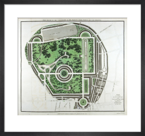 Plan of Regents Park, 1812 by John Nash