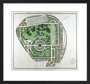 Plan of Regents Park, 1812 by John Nash