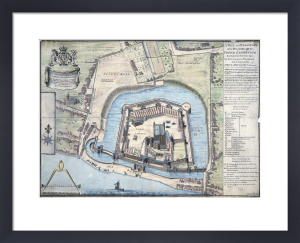 The Tower Of London as surveyed in 1597 (copy c.1805) by R H Jago