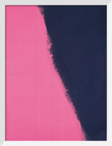 Shadows II, 1979 (black & pink detail) by Andy Warhol
