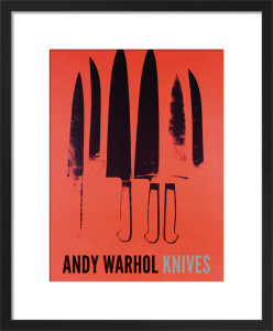 Knives, 1981-82 (red) by Andy Warhol