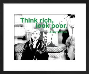 Think Rich by Andy Warhol