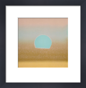 Sunset, 1972 (gold,blue) by Andy Warhol