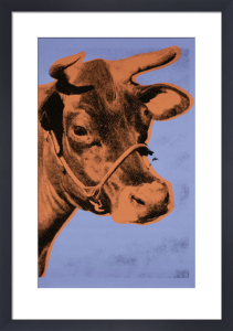 Cow, 1971 (purple & orange) by Andy Warhol
