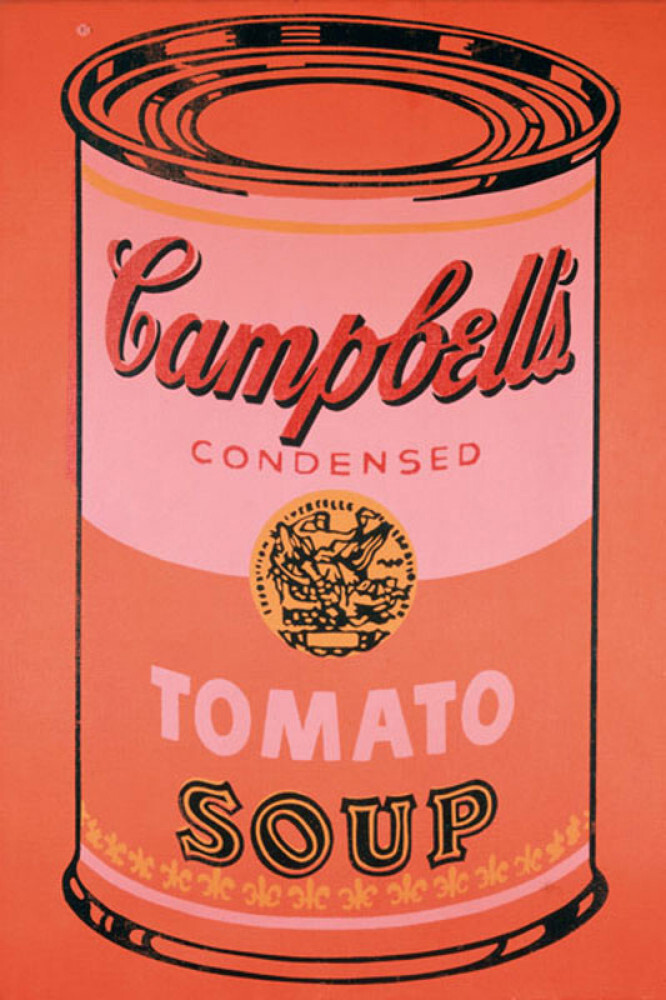 Campbell's Soup Can, 1965 (orange) Art Print by Andy ...