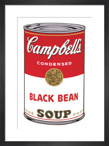 Campbell's Soup I, 1968 (black bean) by Andy Warhol