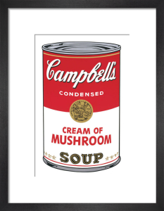 Campbell's Soup I, 1968 (cream of mushroom) by Andy Warhol