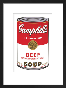 Campbell's Soup I, 1968 (beef) by Andy Warhol