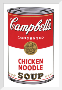 Campbell's Soup I, 1968 (chicken noodle) by Andy Warhol