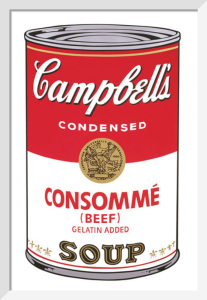 Campbell's Soup I, 1968 (consomme) by Andy Warhol