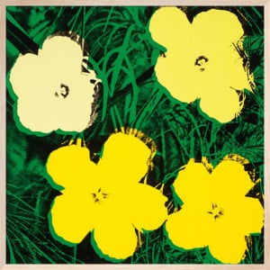 Flowers, c.1964 (4 yellow) by Andy Warhol
