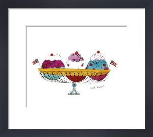 Ice Cream Dessert, c.1959 (3 scoop) by Andy Warhol