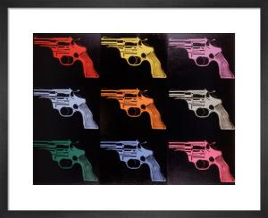 Gun, c.1982 (many/rainbow) by Andy Warhol