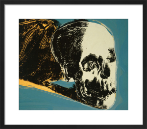 Skull, 1976 (yellow on teal) by Andy Warhol
