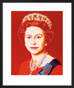 Reigning Queens: Queen Elizabeth II of the United Kingdom, 1985 (light outline) by Andy Warhol
