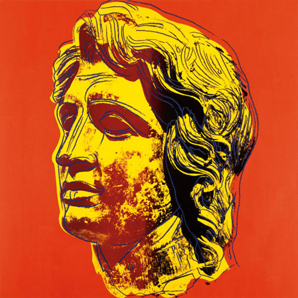 Alexander the great 1982 yellow face art print by andy warhol alexander the great 1982 yellow face kristyandbryce Choice Image