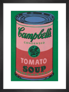Colored Campbell's Soup Can, 1965 (red & green) by Andy Warhol