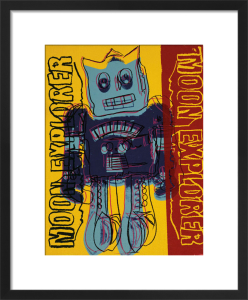 Moon Explorer Robot, 1983 (blue & yellow) by Andy Warhol