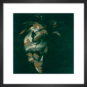 Self Portrait, 1986 (brown camo) by Andy Warhol