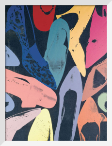 Diamond Dust Shoes, 1980 (lilac, blue, green) by Andy Warhol