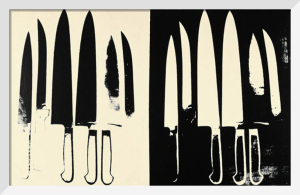 Knives, c.1981-82 (cream & black) by Andy Warhol