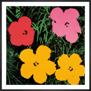 Flowers, c.1964 (1 red, 1 pink, 2 yellow) by Andy Warhol