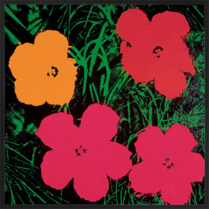 Flowers, c.1964 (1 red, 1 yellow, 2 pink) by Andy Warhol