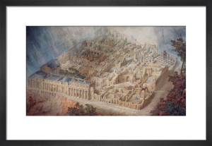 Aerial cutaway view of the Bank of England from the south-east by Joseph Michael Gandy