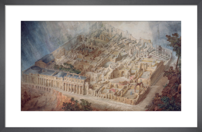 Aerial cutaway view of the Bank of England from the south-east by Joseph M Gandy